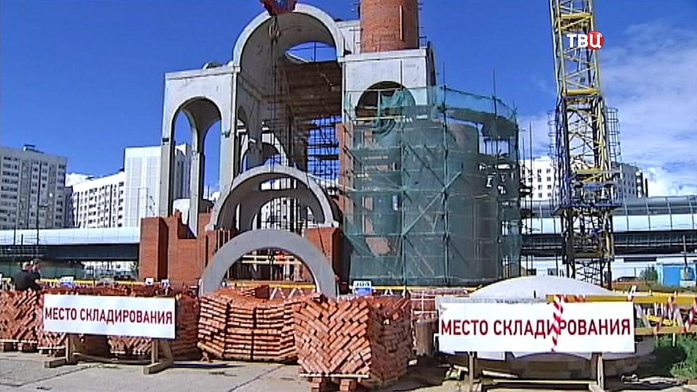Строительство церкви Святого праведного воина адмирала Федора Ушакова