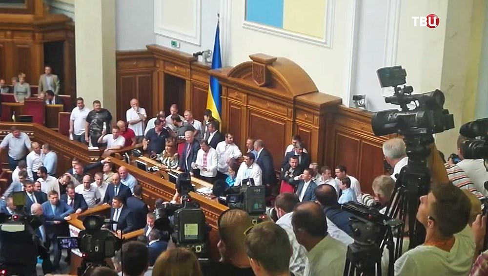 Срыв заседания Верховной Рады Украины