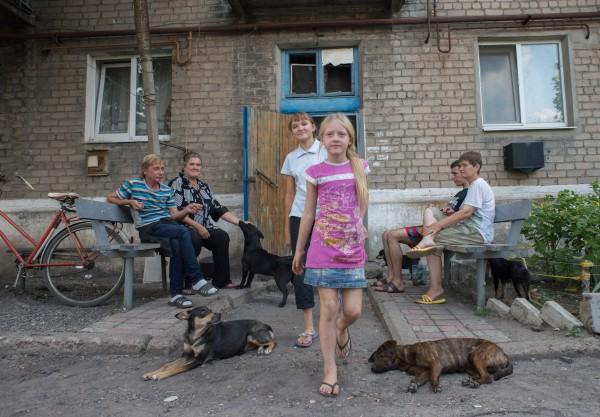Жители поселка Спартак Донецкой области