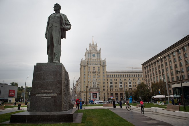 Сергей Собянин на открытии Триумфальной площади
