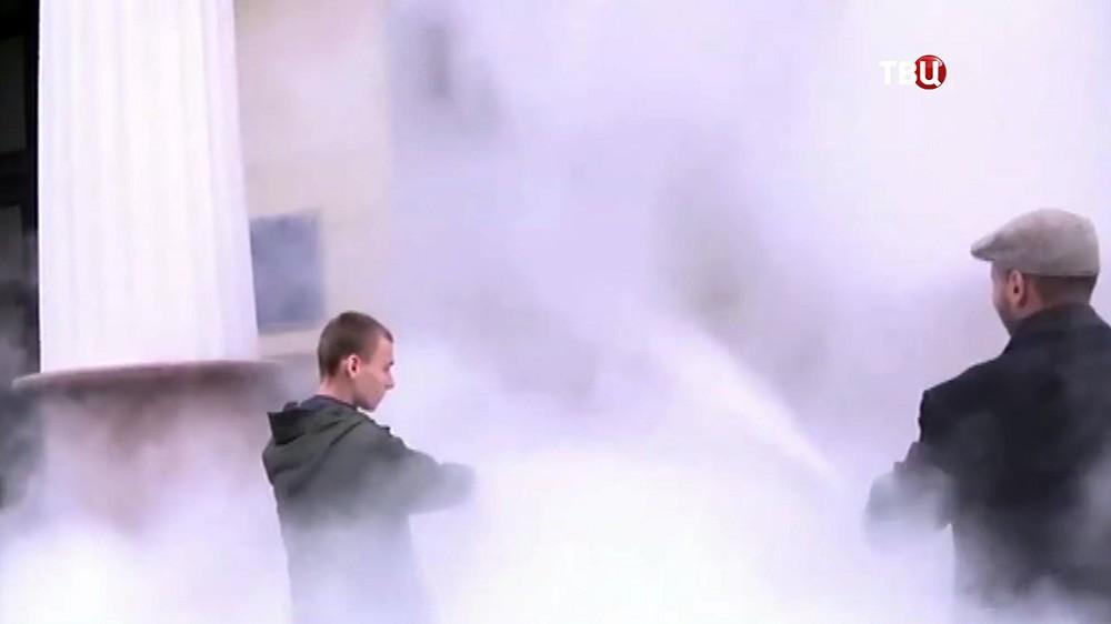 Митинг пожарных в Киеве