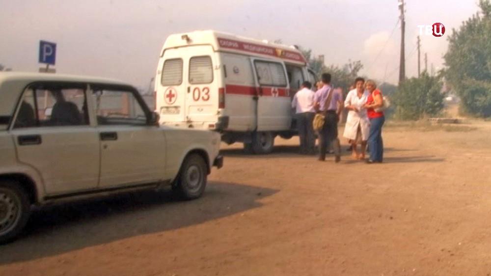 Эвакуация жителей из зоны чп