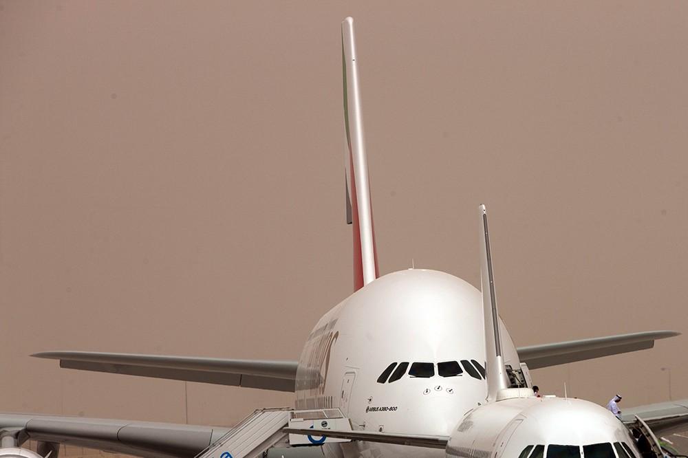 Песчаная буря в аэропорту