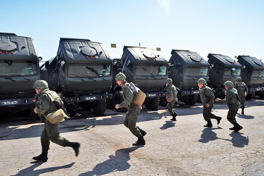 Военные учения мотострелковой бригады