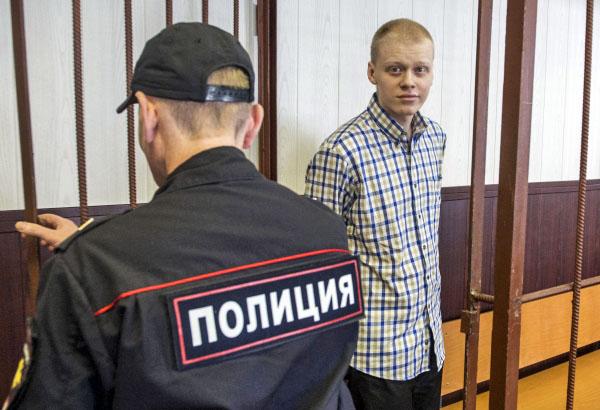 Руфер Владимир Подрезов, обвиняемый в вандализме и хулиганстве по делу о покраске звезды на шпиле высотного здания на Котельнической набережной