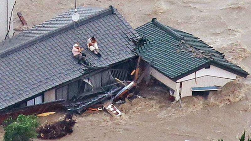 Последствие тайфуна в Японии