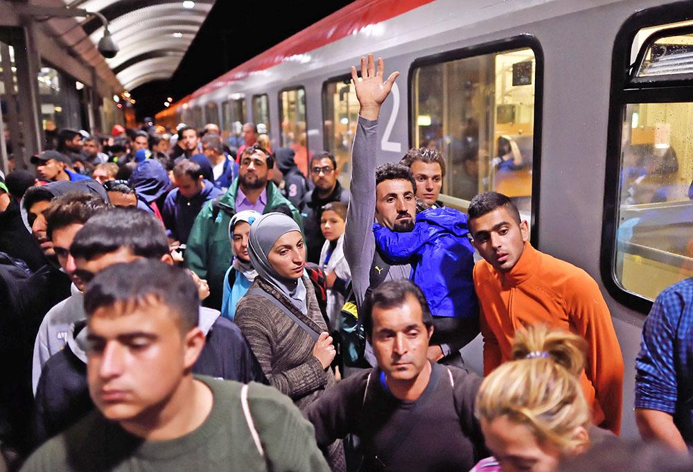 Мигранты на вокзале Будапешта