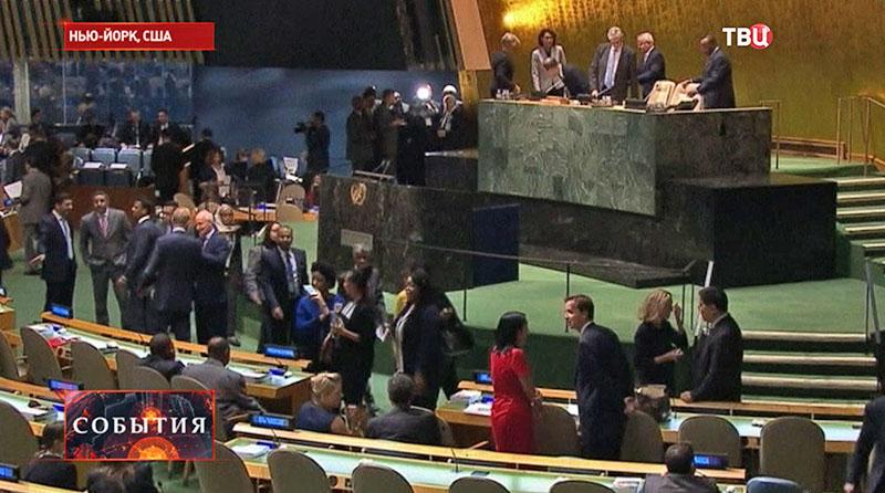 Заседание в штаб-квартире ООН