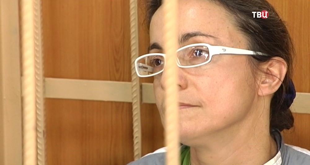 Надежда Розанова в зале суда