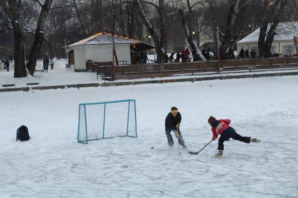 Парк культуры им. Горького. Зима. 2009 год.