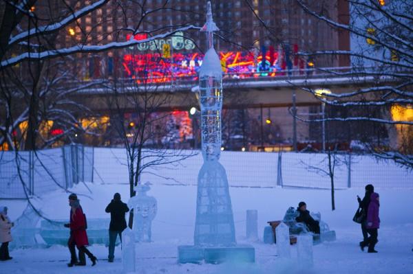 ВДНХ. Зима. 2010 год