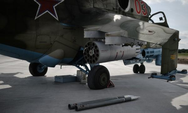 Боекомплект перед заряжанием в вертолет Ми-24