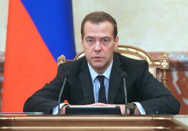 Председатель правительства России Дмитрий Медведев на седьмом заседании Российско-Бразильской комиссии высокого уровня по сотрудничеству в Москве