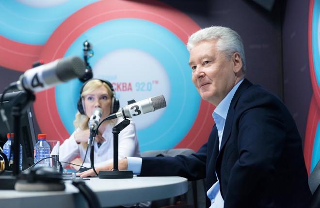 Мэр Москвы Сергей Собянин дает интервью радиостанции «Москва FM»