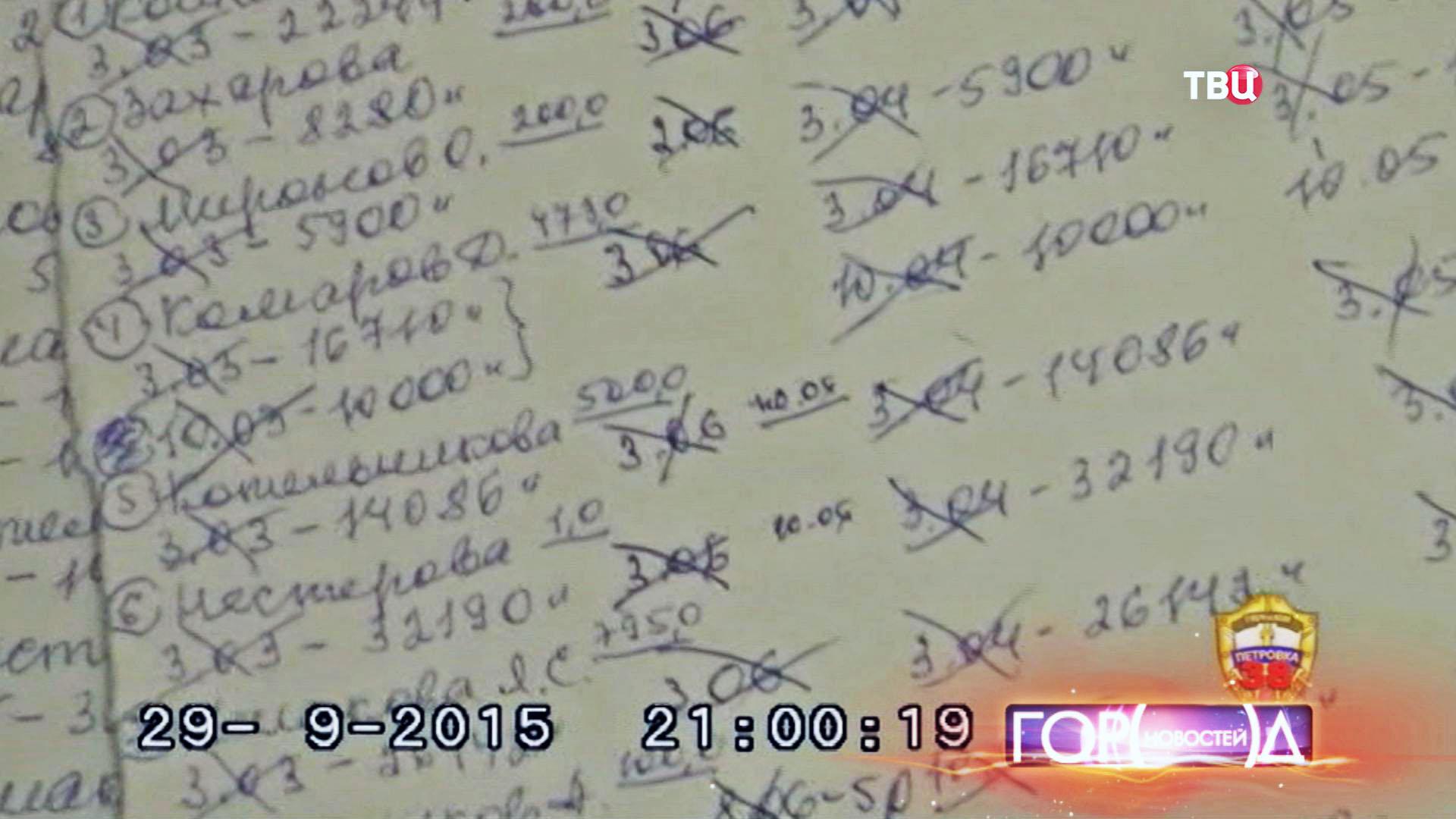 """""""Чёрная"""" бухгалтерия мошенников"""
