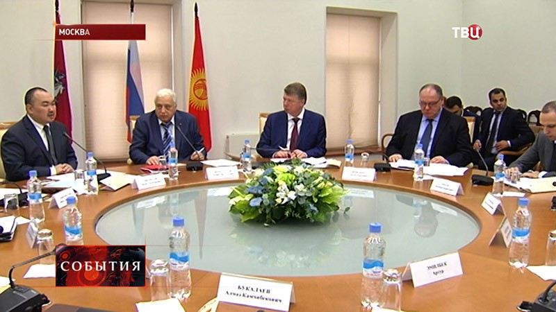 Встреча официальной делегации Киргизской Республики