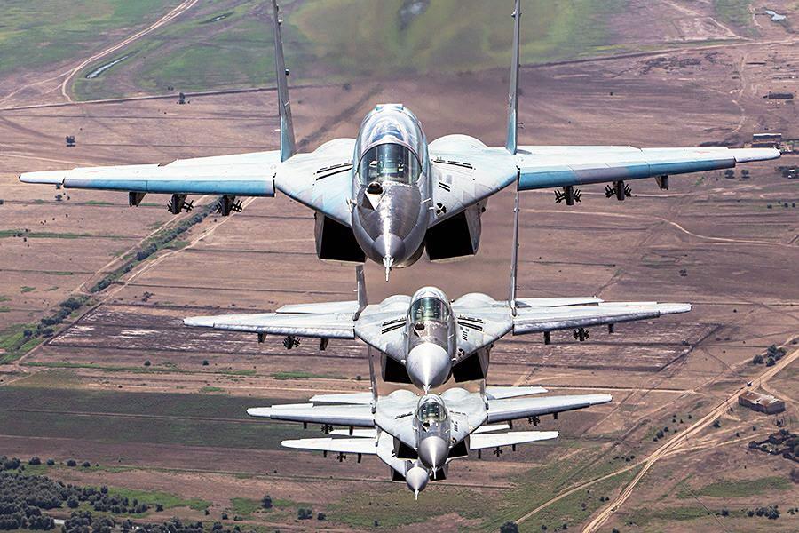 Истребители МиГ-29 авиационной группировки ВКС России в Сирии