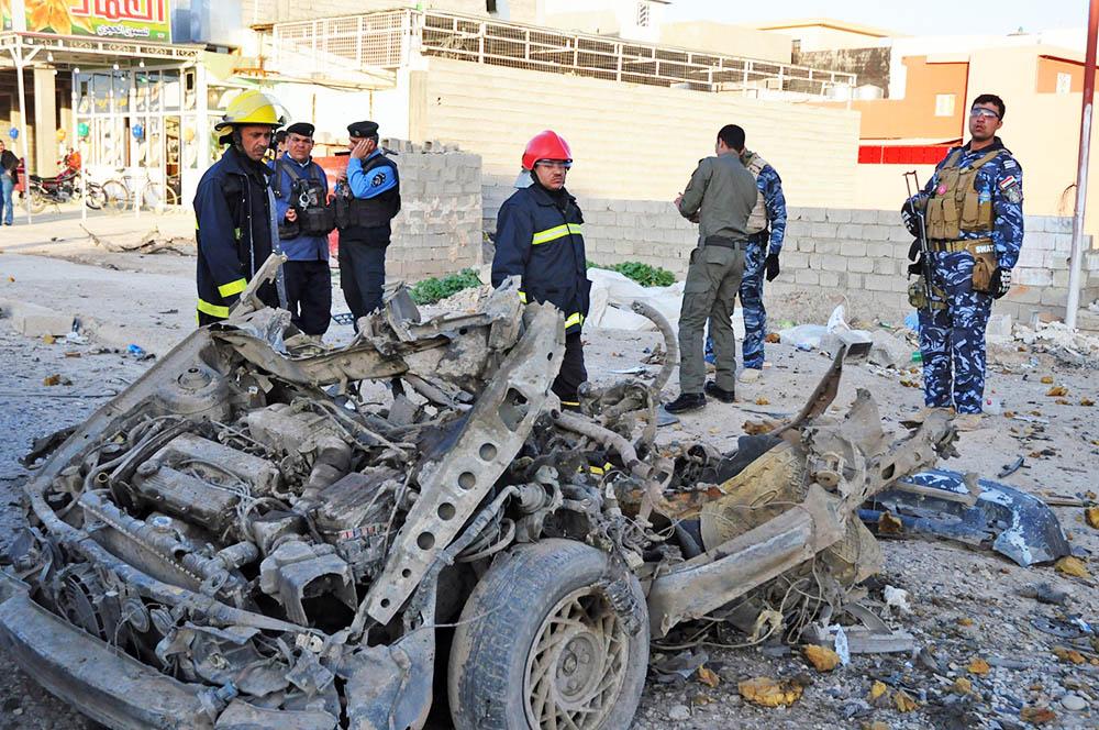 На месте теракта в Ираке