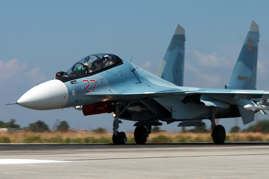 Истребитель Су-27 авиационной группировки ВКС России в Сирии