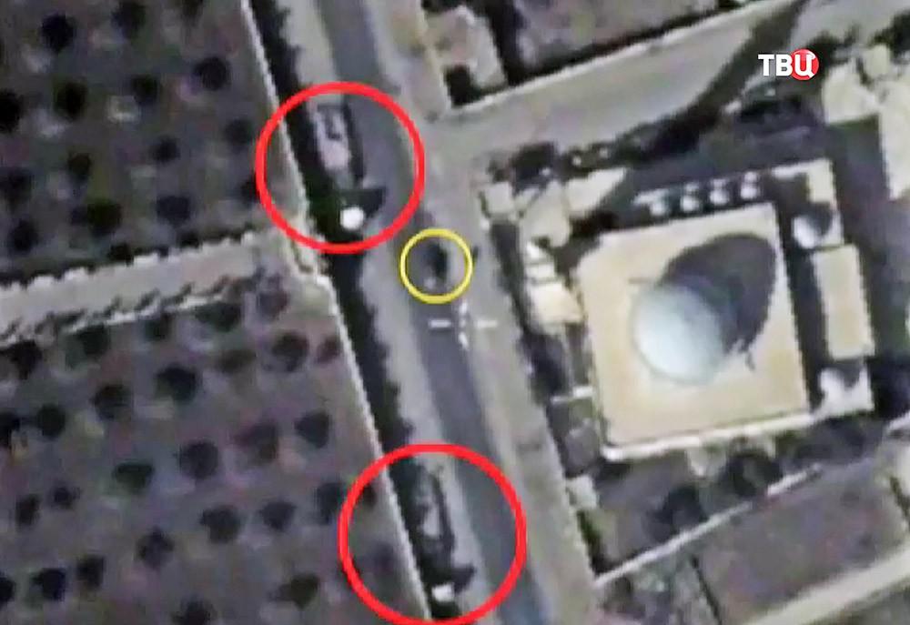 Перемещение тяжёлого вооружения террористами ИГ в жилую зону