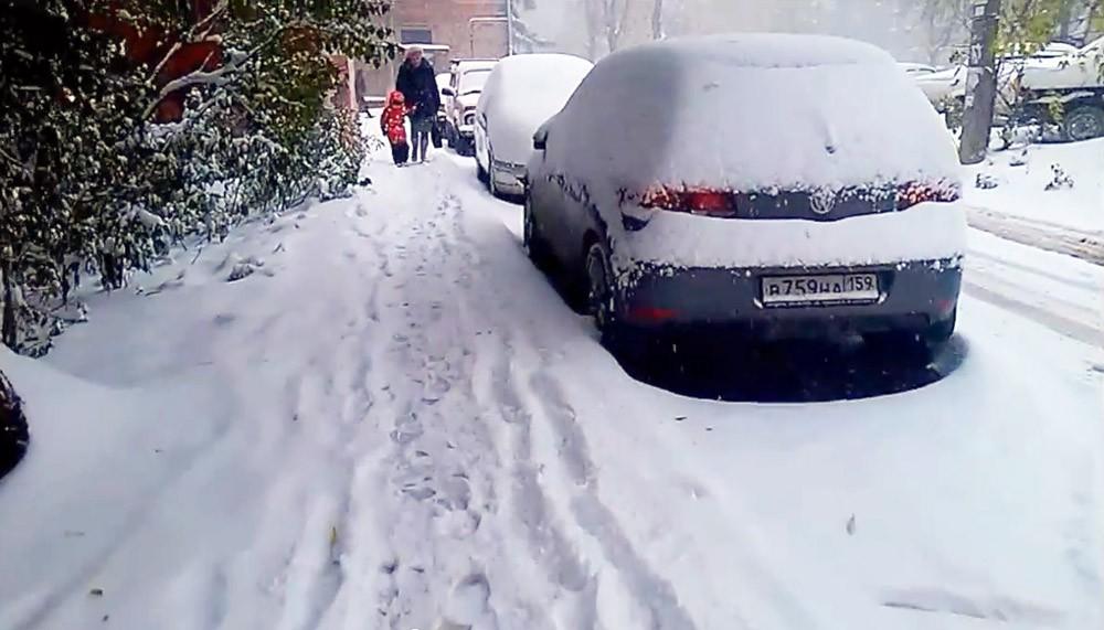 Последствия снегопада в Пермском крае