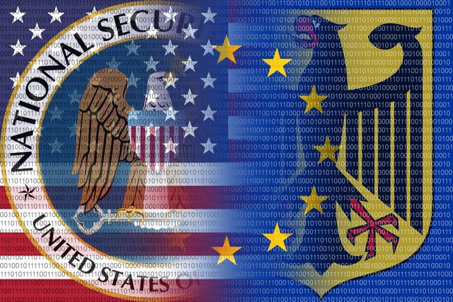 Флаги разведывательных служб США и Германии