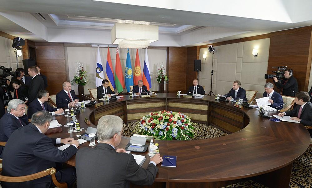Во время заседания Высшего Евразийского экономического совета