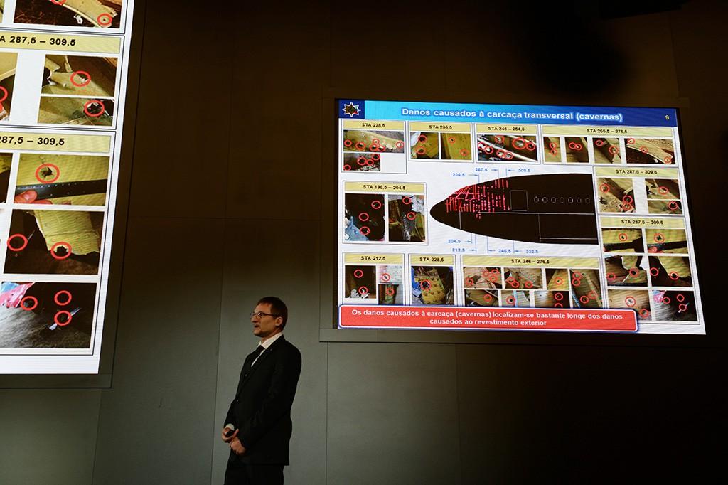 Пресс-конференция в Москве, где были представлены результаты моделирования катастрофы малайзийского Boeing