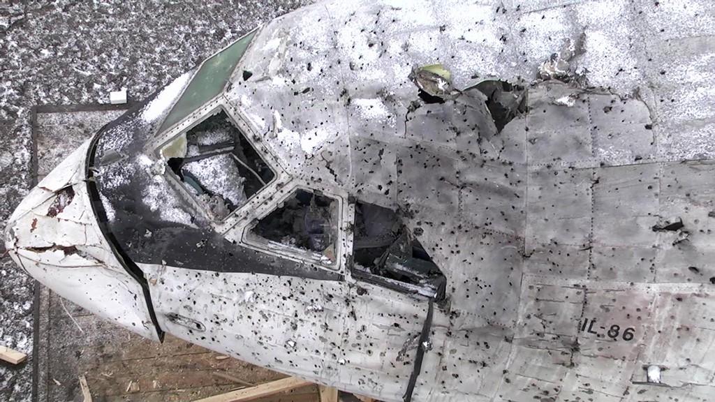"""Фюзеляж списанного самолета Ил-86, поврежденного в ходе натурного эксперимента концерна ПВО """"Алмаз – Антей"""""""