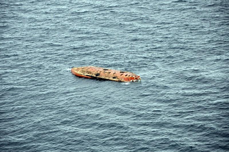 Перевернувшееся судно