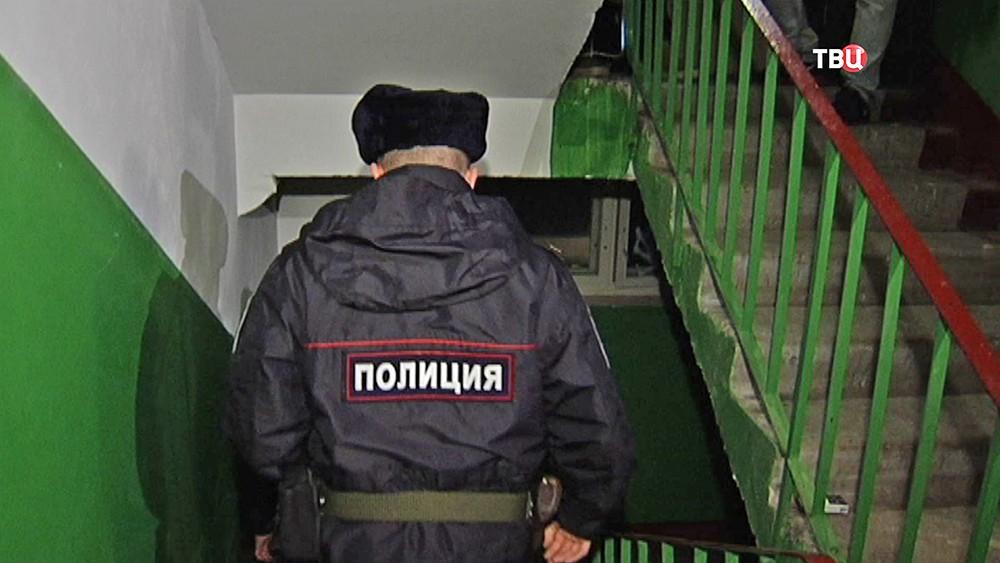 Наряд полиции на месте происшествия