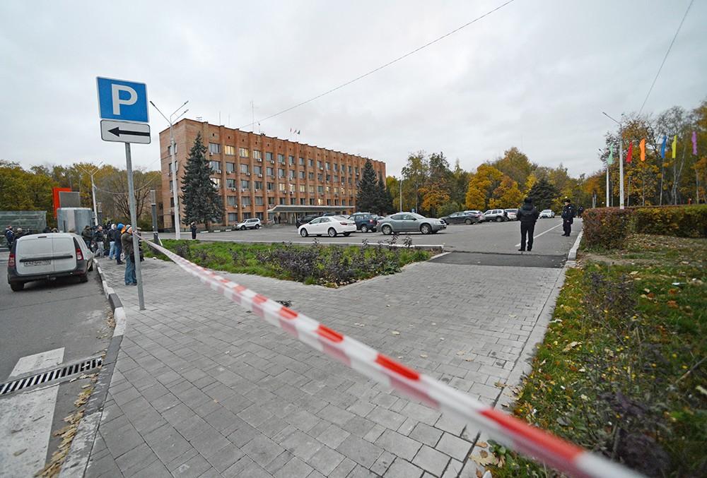 Здание городской администрации Красногорска оцеплено