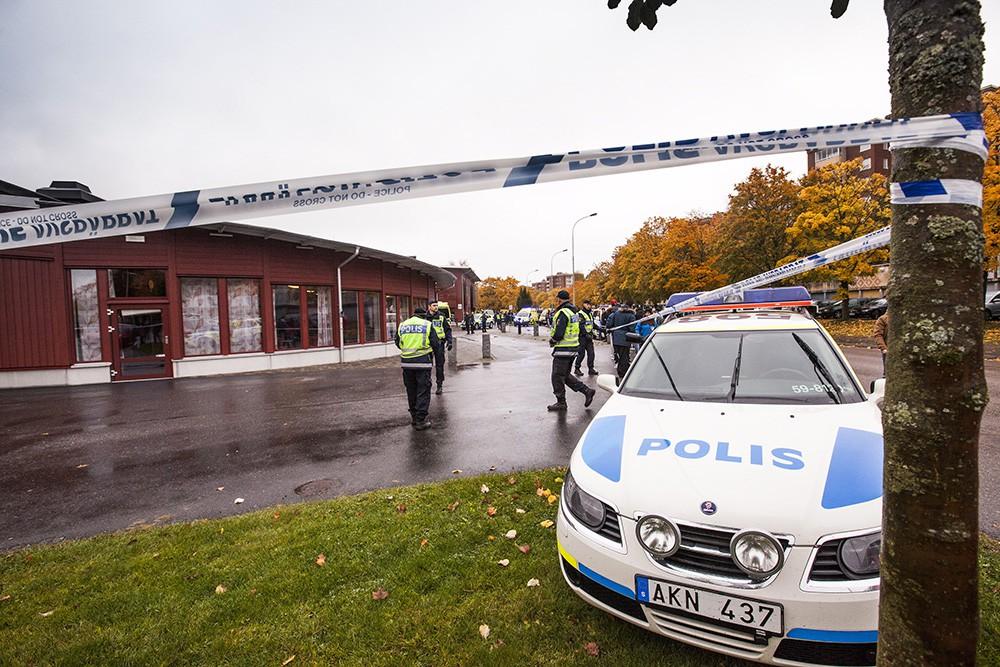 Полиция на месте происшествия в Швеции