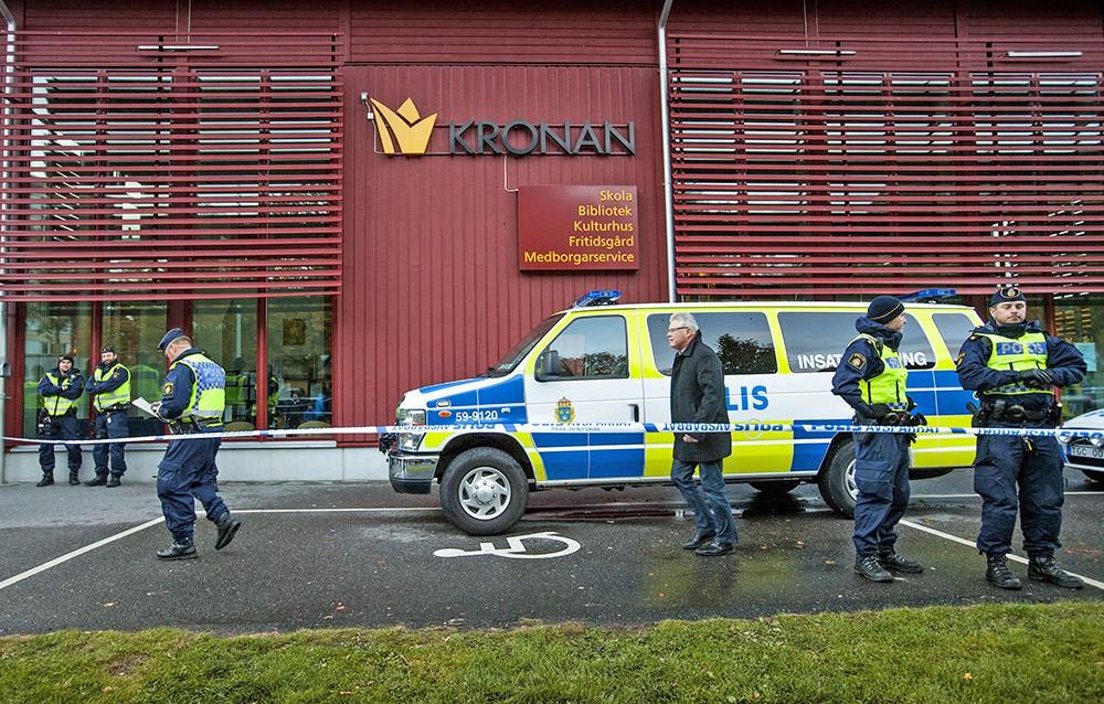 Полиция Швеции на месте происшествия