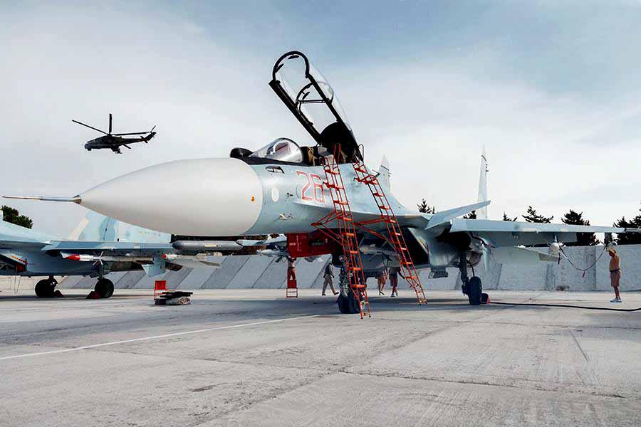 Истребитель Су-30СМ ВКС России