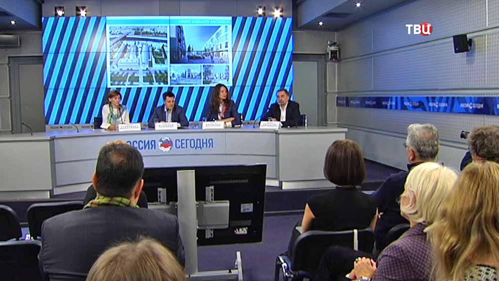 Пресс-конференция на тему застройки Софийской набережной