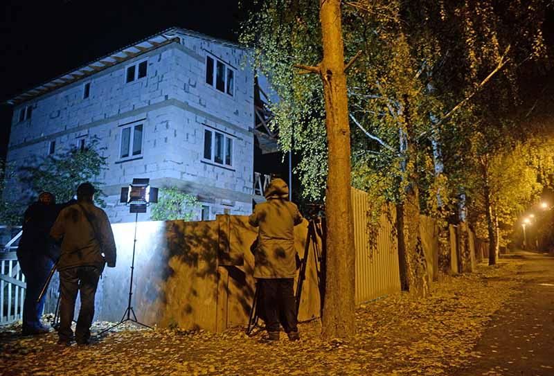 Участок в поселке Тимошкино, на территории которого было найдено тело подозреваемого в совершении четырех убийств в подмосковном Красногорске Амирана Георгадзе