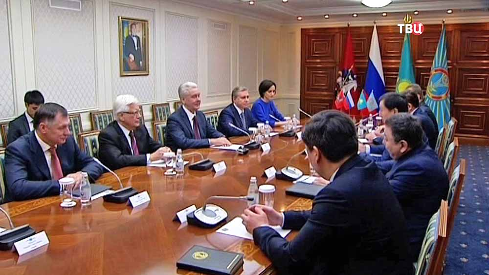 Делегация Москвы во главе с Сергеем Собяниным в Астане