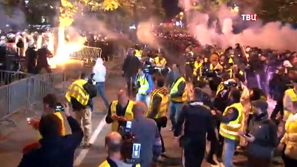 Уличные беспорядки в Черногории