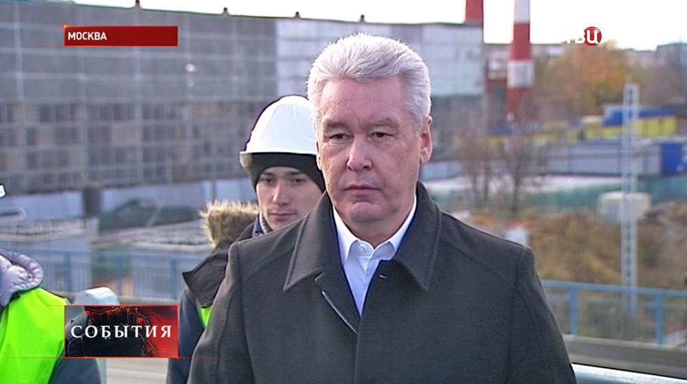 Мэр Москвы Сергей Собянин осматривает Коптевский путепровод