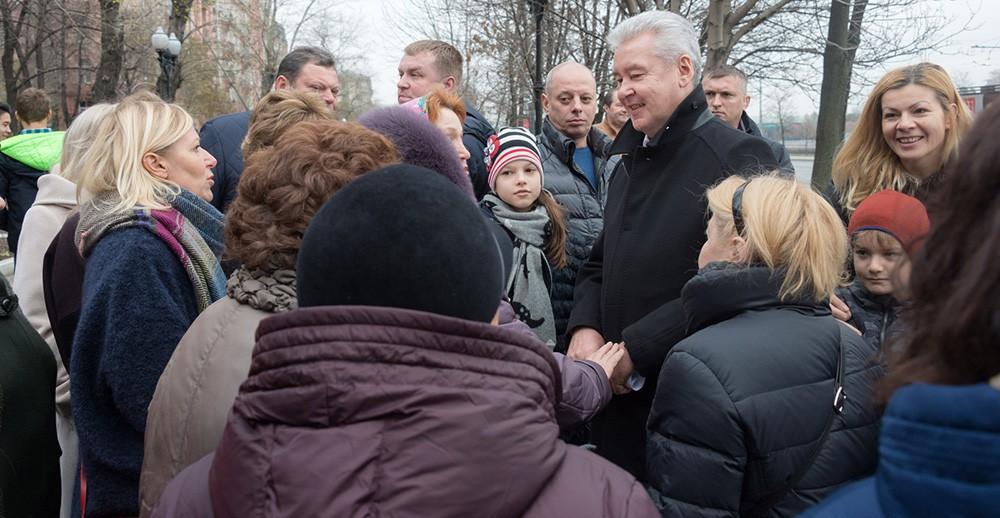Сергей Собянин на набережной