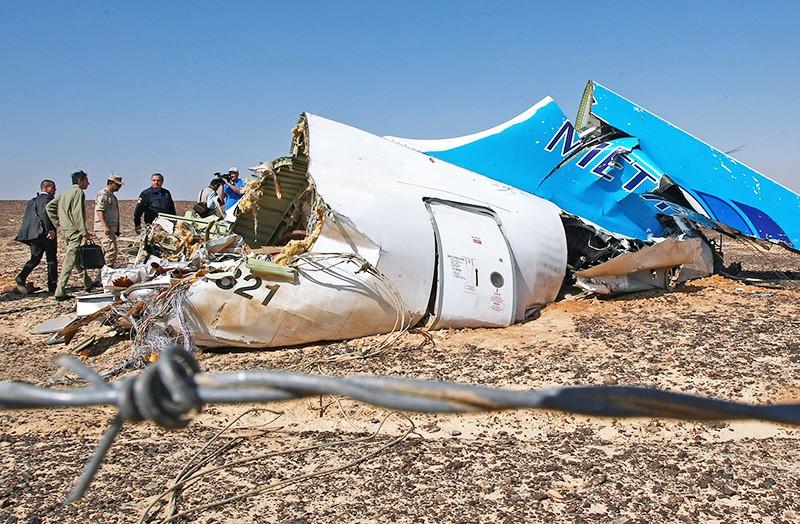 Место крушения самолета Airbus A321