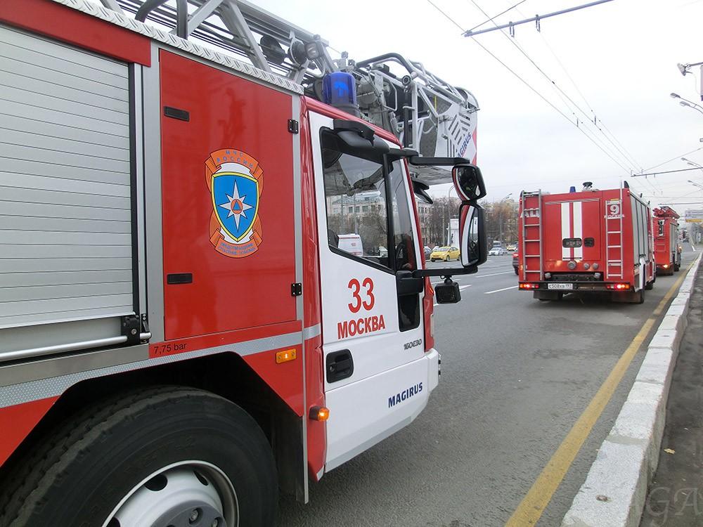 Пожарные машины в Москве