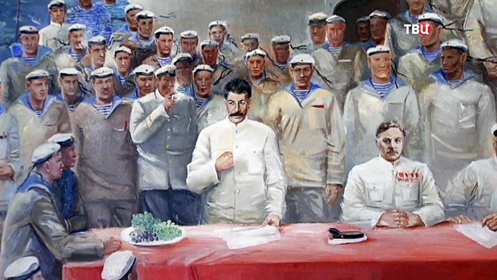 Выставка картин соцреализма
