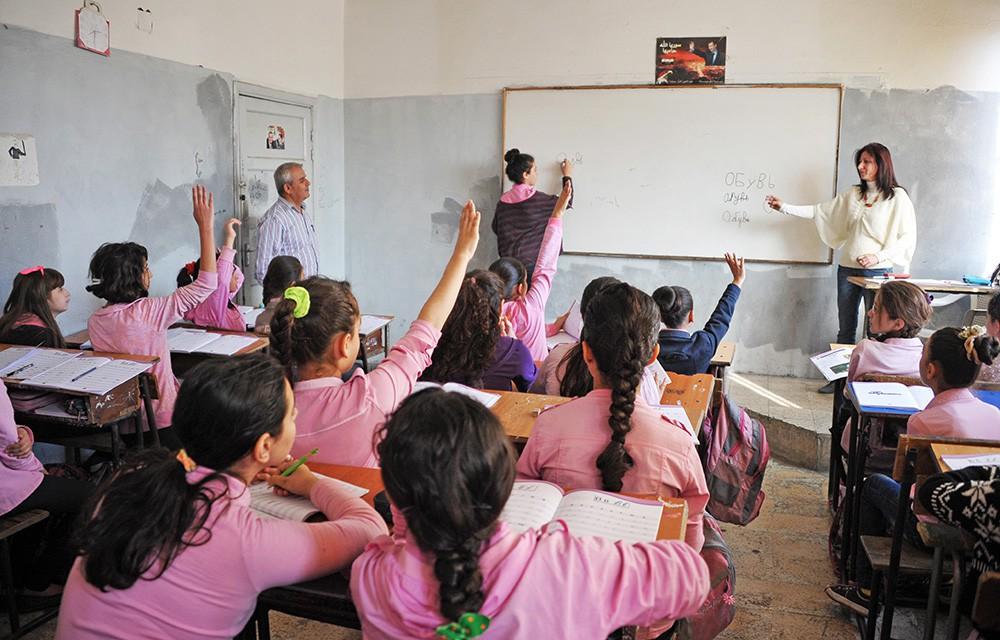 Урок русского языка в сирийской школе