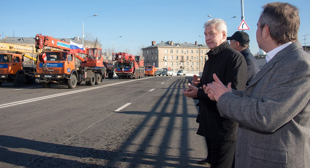 Сергей Собянин на открытии улицы
