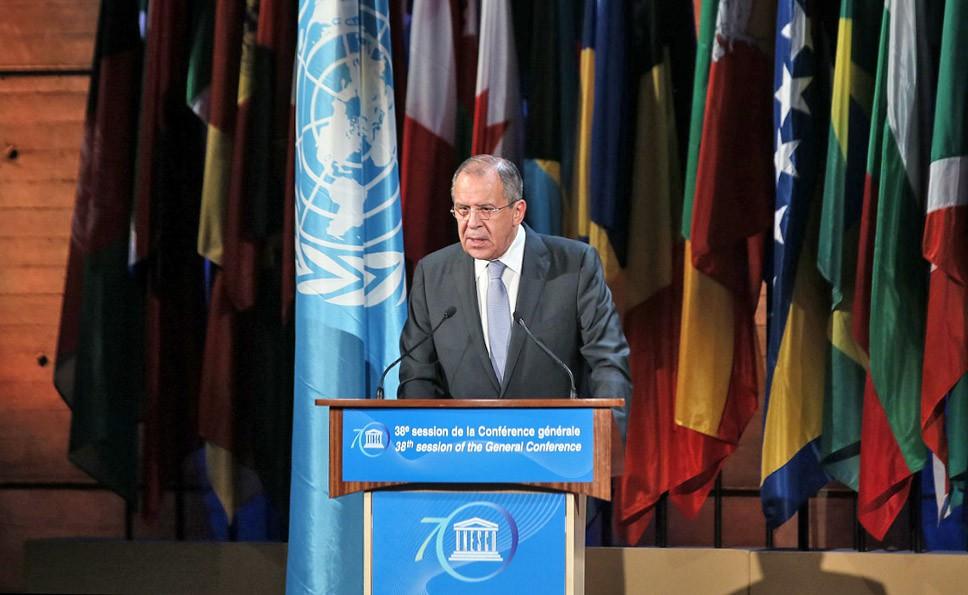 Выступление главы МИД России Сергея Лаврова на Генеральной конференции ЮНЕСКО