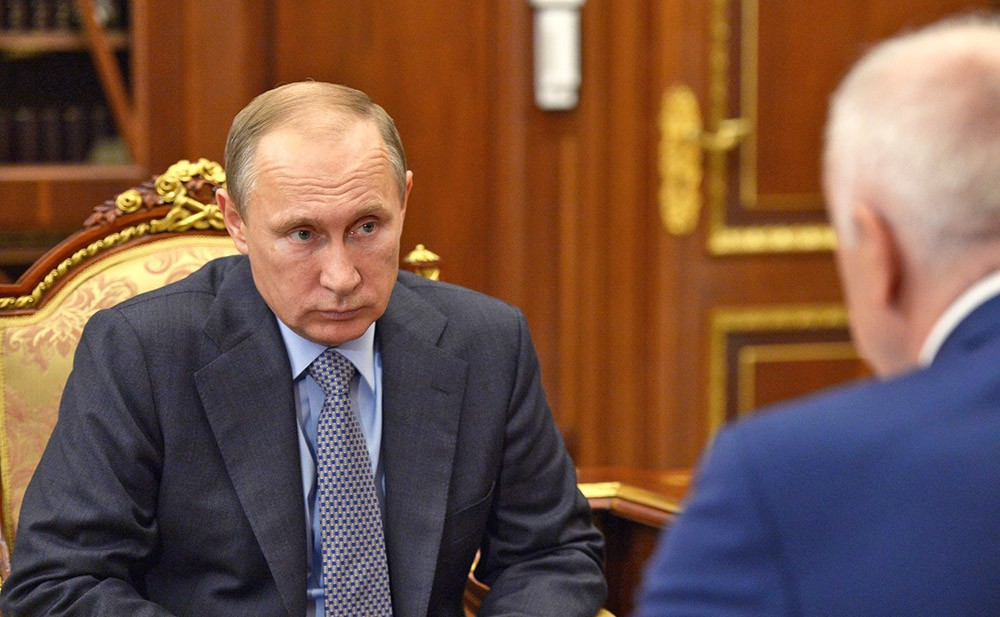 Президент России Владимир Путин и глава Республики Адыгея Аслан Тхакушинов