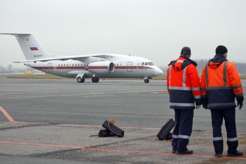 Спецборт МЧС России на аэродроме