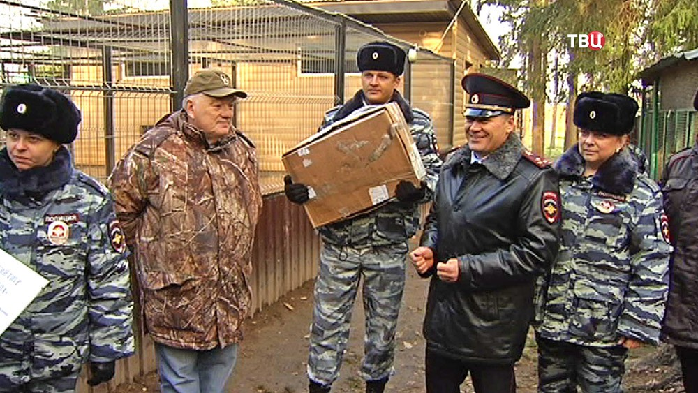 Московские полицейские взяли шефство над амурским тигренком